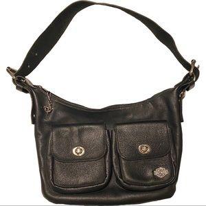vintage Harley Davidson leather purse